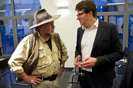 Gunter Demnig (Künstler) und Andreas Roll (Sprecher der Stolperstein-Initiative Boppard)